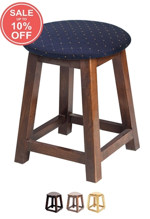High Quality Small Button Top Shaker Stool from Trent Furniture | Pub Chair