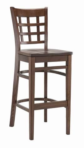 High Quality Tall Squareback Bar Stool from Trent Furniture | Pub Chair