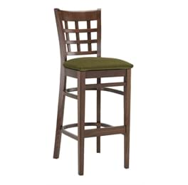 High Quality Tall Squareback Bar Stool Upholstered from Trent Furniture | Pub Chair