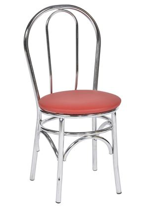 Red and Chrome American Diner Style Chair