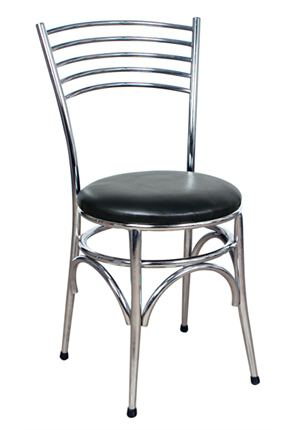 Chrome and Black American Diner Chair