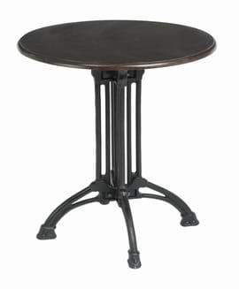 High Quality Art Deco Pedestal Cast Iron Table | Café Furniture
