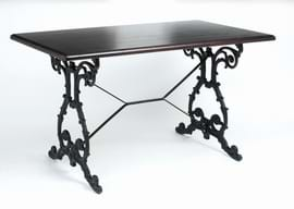 High Quality Rectangular Scroll Cast Iron Table from Trent Furniture