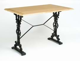 High Quality Rectangular Bar Cast Iron Table