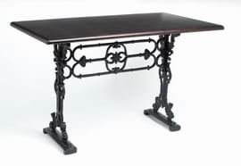 High Quality Rectangular Bar Cast Iron Table with Decorative Centre