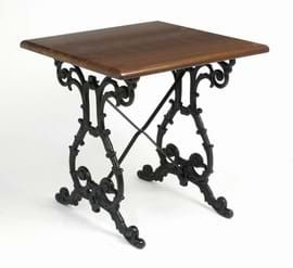 High Quality Square Scroll Cast Iron Table from Trent Furniture