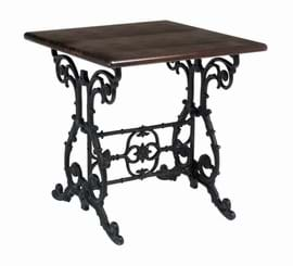 High Quality Square Scroll Cast Iron Table Decorative Centre from Trent Furniture