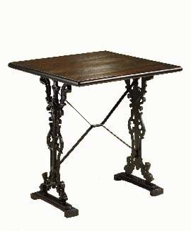 High Quality Square Bar Cast Iron Table from Trent Furniture.