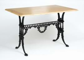 High Quality Rectangular Gothic Cast Iron Table from Trent Furniture