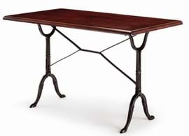 High Quality Rectangular Bistro Cast Iron Table from Trent Furniture