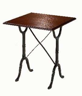High Quality Square Bistro Cast Iron Table | Café & Restaurant Furniture