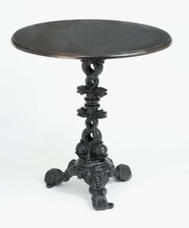 High Quality Dolphin Cast Iron Table from Trent Furniture
