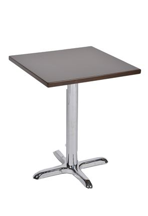 Chrome Cross Foot Olympic Pedestal Table