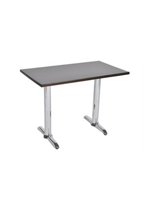 Chrome Twin Pedestal Table
