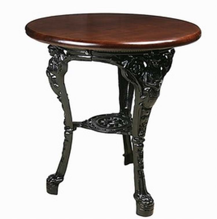 Cast Iron Round Top Britannia Table Available In 2 Sizes