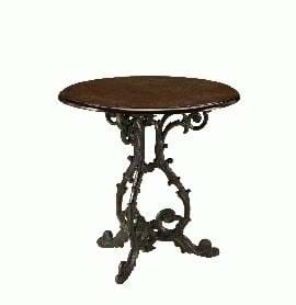 High Quality Scroll Pedestal Cast Iron Table from Trent Furniture