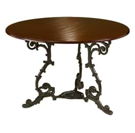 High Quality Extended Scroll Pedestal Table | Cast Iron Table