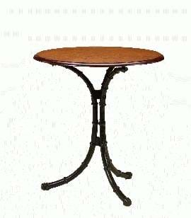 High Quality Bamboo Pedestal Table | Cast Iron Table