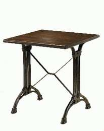 High Quality Square Art Deco Cast Iron Table from Trent Furniture