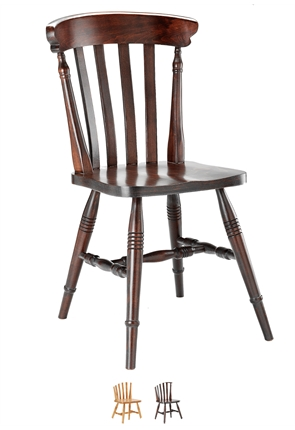 High Quality Farmhouse Slatback Chair from Trent Furniture | Restaurant Chair