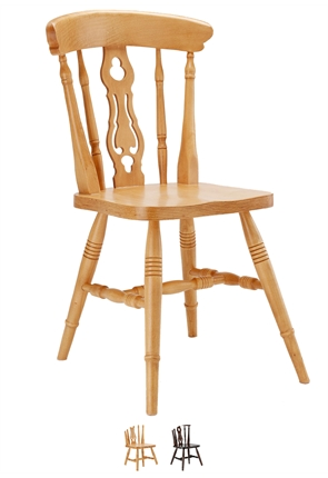 High Quality Farmhouse Fiddleback Chair from Trent Furniture | Restaurant Chair