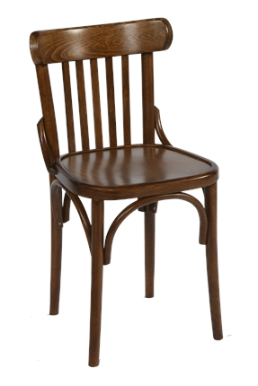High Quality Bentwood Slatback Side Chair in Walnut | Café & Restaurant Furniture