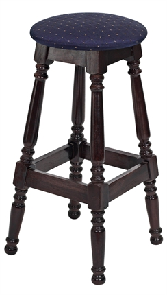 High Quality Tall Button Top Colonial Stool from Trent Furniture | Pub Chair