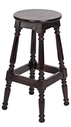 High Quality Tall Hard Top Colonial Stool from Trent Furniture | Pub Chair