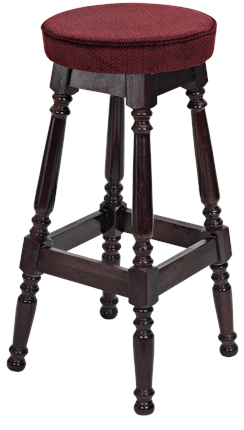 High Quality Tall Piped Top Colonial Stool from Trent Furniture | Pub Chair