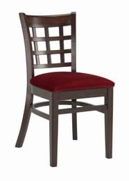 High Quality Squareback Side Chair Upholstered from Trent Furniture | Restaurant Chair
