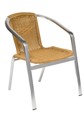 High Quality Monaco Natural Wicker Stacking Chair | Outdoor Furniture