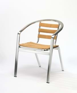 High Quality Monaco Wood Effect Stacking Chair | Outdoor Furniture