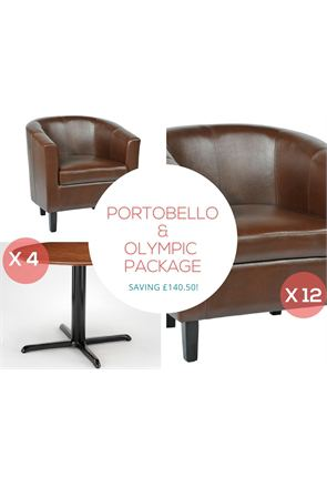 Tub Chairs x12 and Olympic Coffee Tables x4 from Trent Furniture | Restaurant Furniture