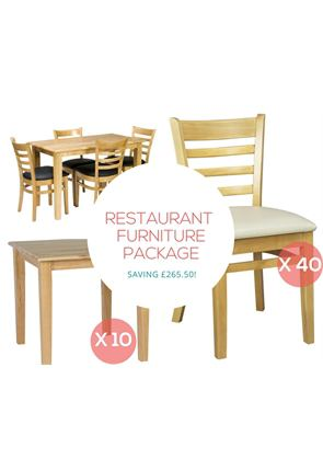 Restaurant Furniture Package with 40x Side Chairs and 10x Shaker Tables from Trent Furniture