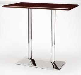 High Quality Rectangular Chrome Pyramid Poseur Table from Trent Furniture