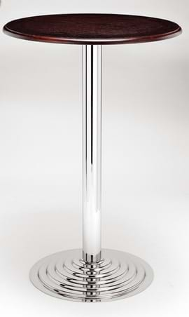High Quality Chrome Ricardo Poseur Table from Trent Furniture