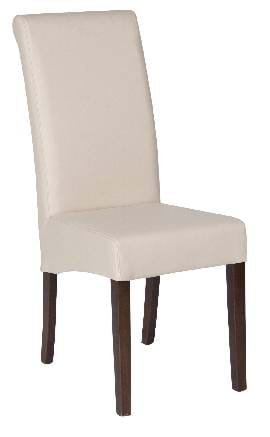 High Quality Cream Leather Abbruzzo Restaurant Chair from Trent Furniture