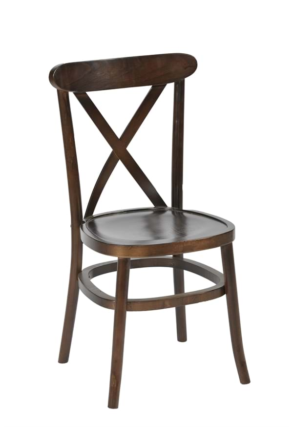 High Quality Crossback Stacking Bentwood Chair In Dark Oak From Trent  Furniture
