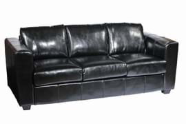 High Quality Manhattan Black Faux Leather Three Seater Restaurant Sofa from Trent Furniture