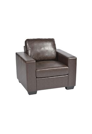 Rustic Leather One Seater Armchair
