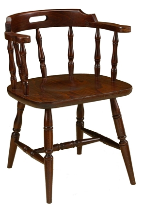 High Quality Dark Oak Admirals Chair from Trent Furniture | Pub Chair
