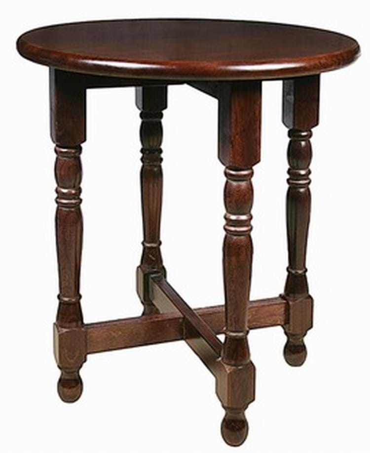 Dark oak round tudor table pub tables trent furniture for Round pub table and chairs