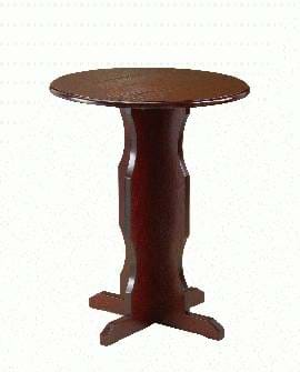 High Quality Round Dark Oak Cruciform Table from Trent Furniture | Pub Table